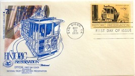October 29, 1971 First Day of Issue, Fleetwood Cover, Historic Preservat... - $0.99