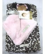 Blankets & Beyond Baby Girls Security Lovey Doll & Leopard Print Blanket Set - $28.99