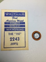 Nos Waltham Watch Model The 750 2243 .09 Mainspring - $9.99