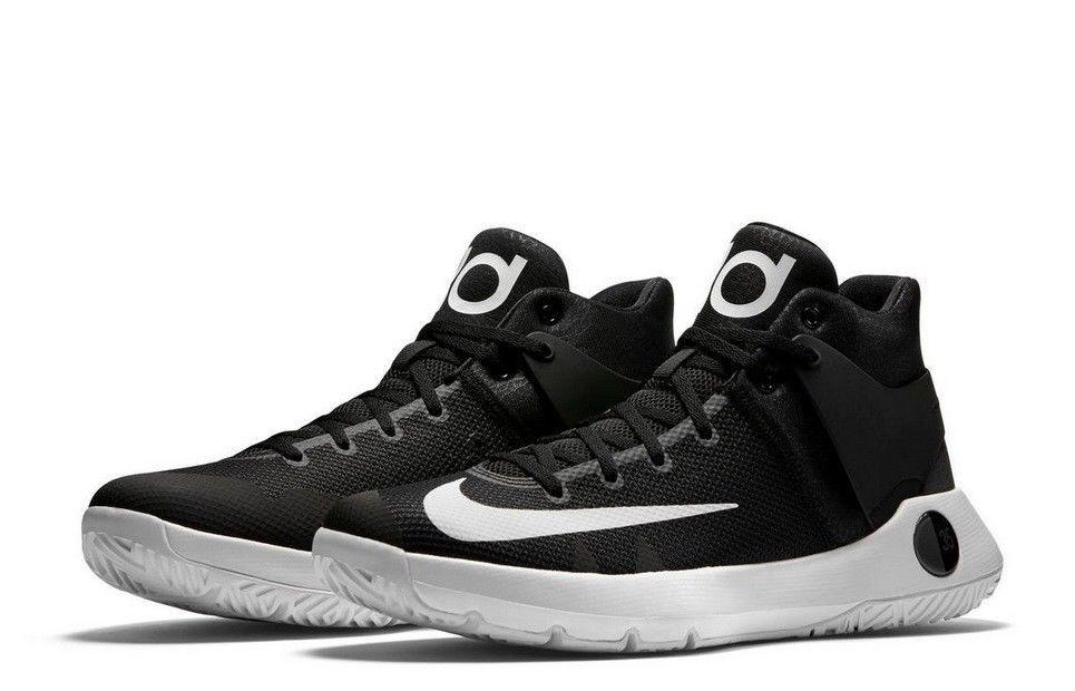 Nike KD Trey 5 IV 4 Men's Basketball Shoes Black White 844571-
