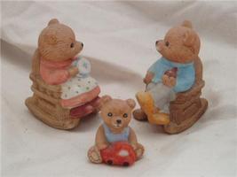 Homco Bear Family RETIRED Home Interiors - $7.99