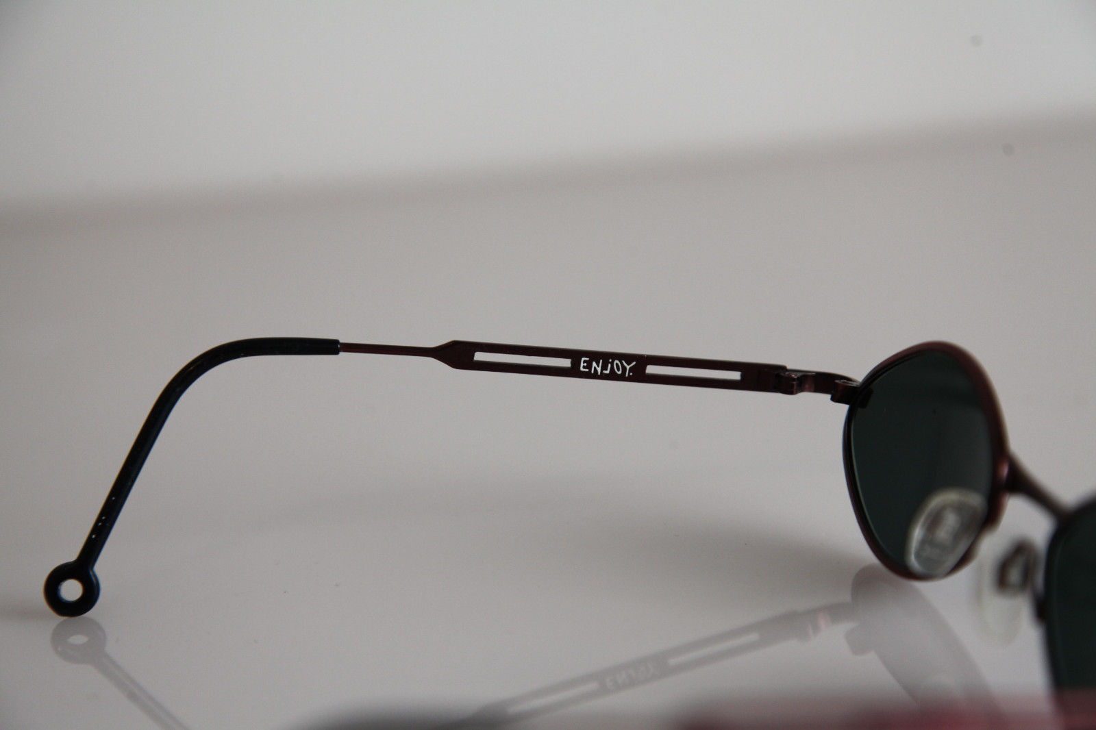 ENJOY Eyewear, Metallic Red Frame,  RX-Able Tinted Prescription Lenses.