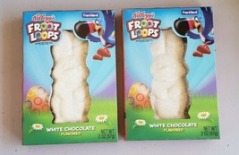 2 Kellogg's Froot Fruit Loops Cereal Flavored White Chocolate Easter Bunny - $9.79
