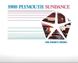 1988 Plymouth SUNDANCE sales brochure catalog US 88 RS Turbo - $6.00