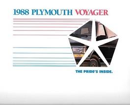 1988 Plymouth VOYAGER sales brochure catalog US 88 GRAND LE SE - $6.00