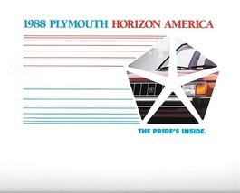 1988 Plymouth HORIZON AMERICA sales brochure catalog US 88 - $6.00