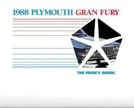 1988 Plymouth GRAN FURY sales brochure catalog US 88 Salon Special - $8.00