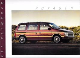1987 Plymouth VOYAGER sales brochure catalog US 87 GRAND LE SE - $6.00