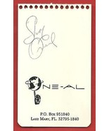 """SHAQUILLE  O'NEAL   HAND  SIGNED  AUTOGRAPHED   4.75 """" X  3 """"  PAGE  OF ... - $49.99"""
