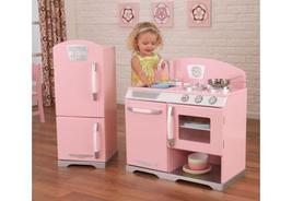 Pink retro kitchen & refrigerator Girls's toys ... - $244.00