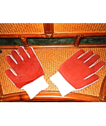1 PAIR WHITE COMFORT VENTED CLOTH INNER/OUTER  GLOVES 81/1762M SMITTY B... - $3.00