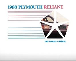 1988 Plymouth RELIANT sales brochure catalog US 88 LE - $6.00