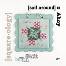 Sail Around Square-ology cross stitch chart Just Another Button Company - $5.00
