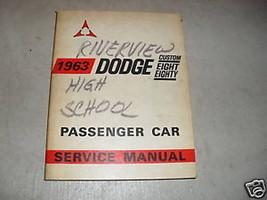 1963 Dodge Chrysler Custom Eight Eighty 88 Service Shop Repair Workshop ... - $15.84