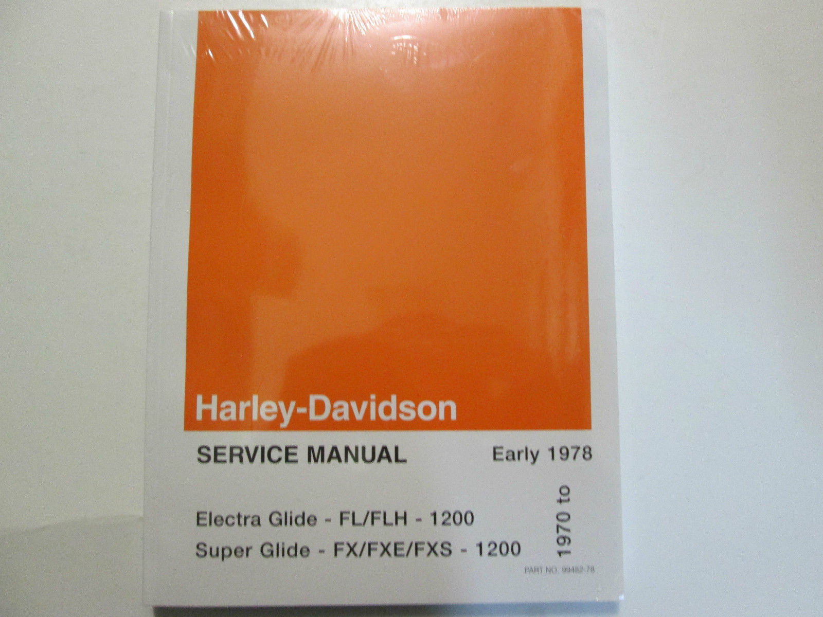 Primary image for 1970 1971 1972 Harley Davidson Electra Super Glide Service Repair Manual Set NEW