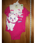 Disney Aristocats Baby Clothes 6M-9M Newborn Girl Bodysuit Set Marie Boo... - $18.99