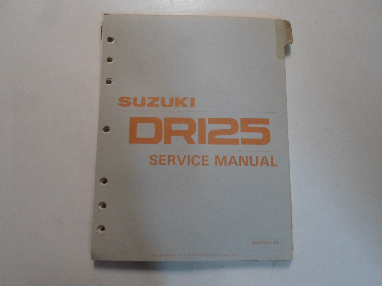 1982 1983 1984 Suzuki DR125 Service Repair Manual LOOSE LEAF MISSING PAGES  COVER