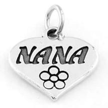 925 STERLING SILVER NANA IN HEART CHARM/PENDANT - $11.94