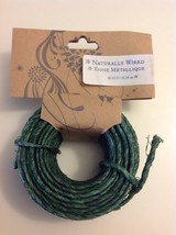 Naturally Wired Vigne Metallique 50ft Green Craft Wire - $19.55
