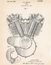 Patent Print Harley Gift Motorcycle Art V TWIN CYCLE V-Twin engine 1919 - $9.41+