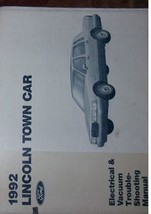 1992 Lincoln TOWN CAR Wiring Electrical TROUBLESHOOTING Shop Manual OEM - $69.25