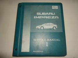 1993 1994 Subaru Impreza Gen Info Mechanism Function Service Manual VOL ... - $59.35