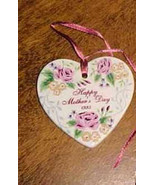 Longaberger Pottery 1995 Mothers Day Basket Tie On  Rose New In  Box  Au... - $9.95