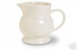 Longaberger Baskets Pottery Small Woven Tradition Ivory Pitcher  Made In... - $32.62