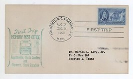 First Trip Highway Post Office Fayetteville NC Florence SC 1950 Trip 2 H... - $6.99