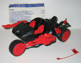 1986 GI Joe Cobra STUN 98% Complete No Figure - EX Cond Vintage VERY CLEAN - $39.00
