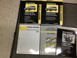 2001 Toyota Highlander Suv Truck Service Shop Repair Manual Set W Ewd + Extras - $287.09