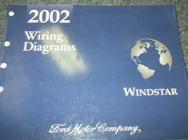 2002 Ford WINDSTAR MINI VAN Wiring Electrical Diagrams Service Shop Manu... - $24.70