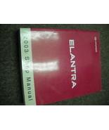 2003 Hyundai ELANTRA Service Repair Shop Workshop Manual Brand New - $217.75