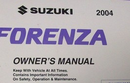 2004 Suzuki Forenza Factory Owners Manual Oem Factory Book X Brand New - $69.30