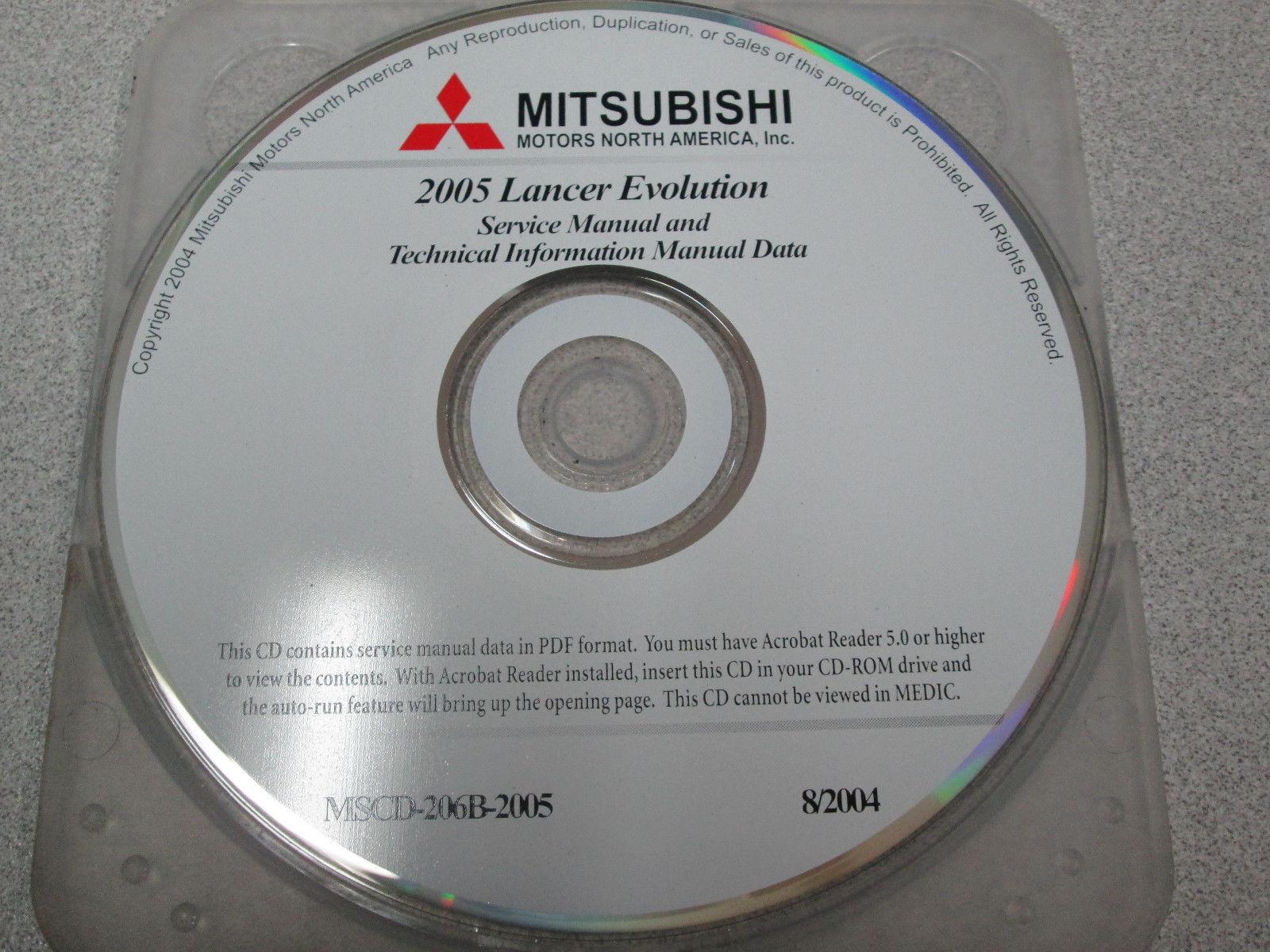 2005 Mitsubishi Galant Service Repair Shop Manual Data CD FACTORY OEM