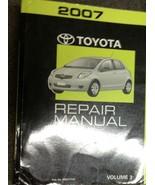 2007 Toyota YARIS Service Shop Repair Workshop Manual VOLUME 3 ONLY NEW - $237.55