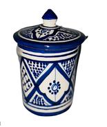 """GGE """"KECHLA"""" FASSI BLUE Multi-Purpose MOROCCAN COFFEE SUGAR CANISTER COO... - $48.51"""