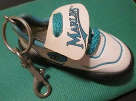 "FL Florida MARLINS baseball shoe keyring key chain clip-on 4"" - $19.99"
