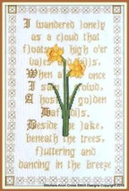 I Wandered Lonely As A Cloud cross stitch chart Stitchers Anon Designs - $17.10