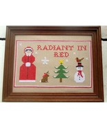 Maid in Colour: Radiant in Red cross stitch chart Stitchers Anon Designs - $7.20