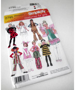 Fairy Angel Bee Indian Lady Bug Costume Pattern Simplicity 2795 Hallowee... - $19.97
