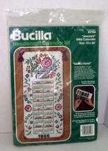 Jeweled Needlecraft Calendar Kit 1986 Stencil Floral Bucilla 82156 NIP FREE SHIP - $59.97