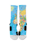 "Nike Elite socks custom World Map  ""Fast Shipping"" - $24.99"