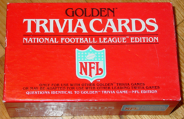 GOLDEN TRIVIA CARDS NATIONAL FOOTBALL LEAGUE EDITION GAME NFL CARDS 1984... - $10.00