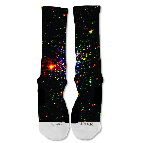 "Nike Elite socks custom UFO Galaxy  ""Fast Shipping"""