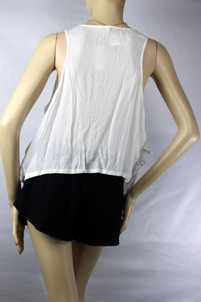 Ruffle Layering Hi-Low TANK TOP w/ Necklace,Stretchy Casual Trendy Top Plus