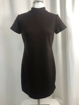 Ann Taylor Dark Brown Wool Short Sleeve Fitted Knit Dress Size 4 - $28.49
