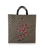 Authentic Gucci GG Supreme Monogram Canvas Kingsnake Print Tote Bag - $951.38