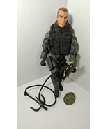"Hasbro 2001 Modern GI Joe 12"" action figure SWAT team ? grappling hook w... - $19.79"