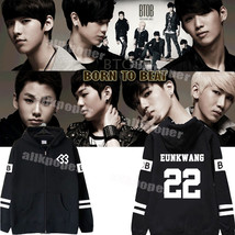 KPOP BTOB BORN TO BEAT Zipper Hoodie Unisex EUNKWANG Coat Jacket MinHyuk... - $12.59